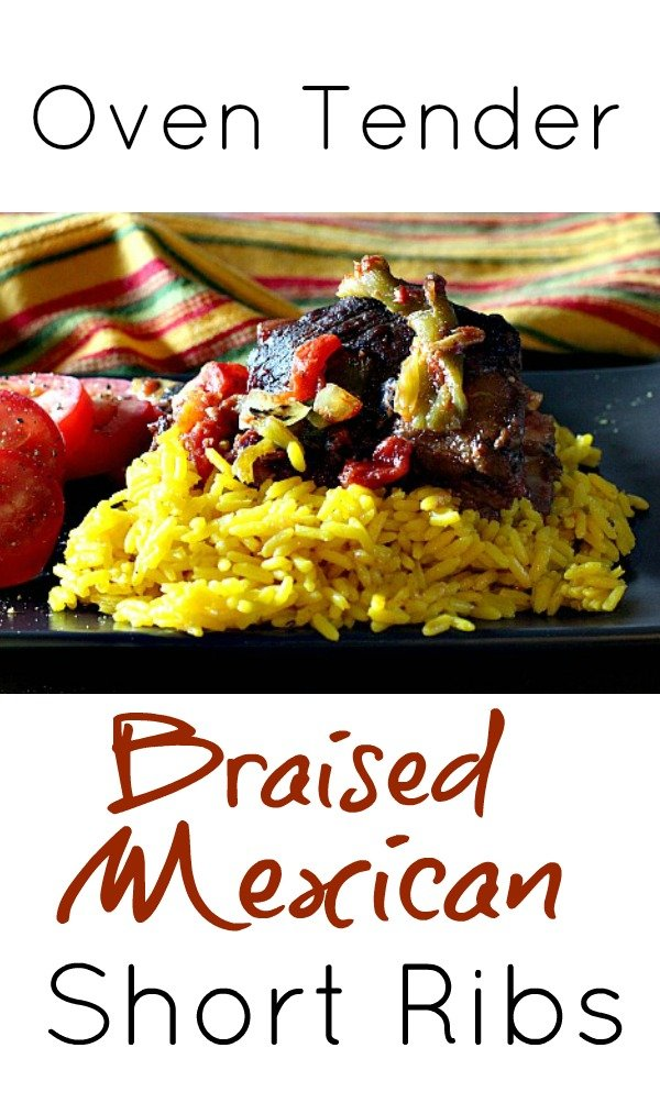 Oven Tender Mexican Braised Beef Short Ribs