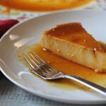 Cream Cheese Flan with caramel topping