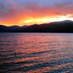 Camping at Turquoise Lake in Colorado. Sunset at Turquoise Lake