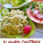 Almond Chicken Chutney Lettuce Wrap Recipe. Great recipe for a ladies luncheon.