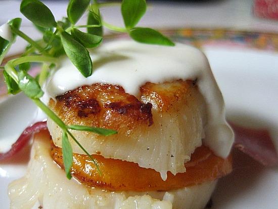 scallop apricot appetizer