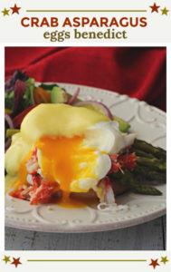 Crab and asparagus eggs benedict