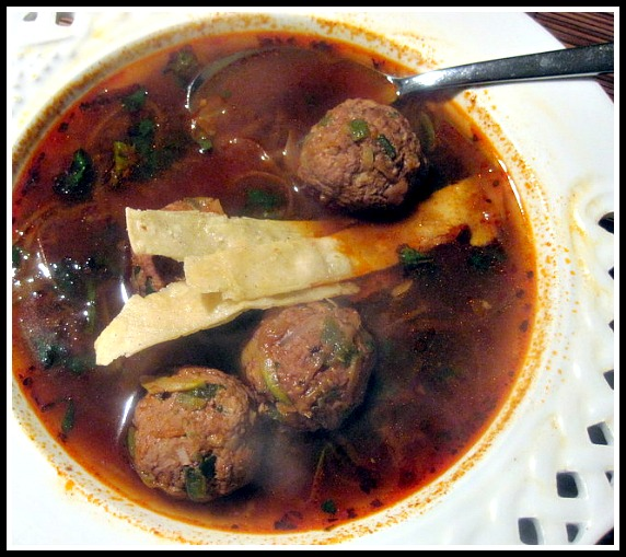 Mexican Meatball Soup, Poblano Albóndigas with Ancho Chile Soup ...