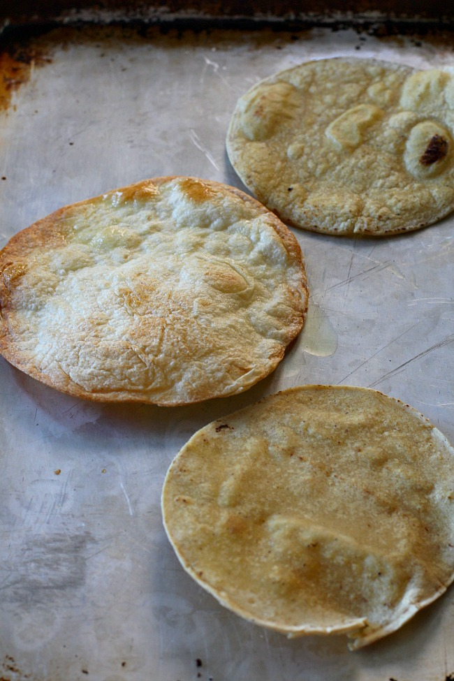 Easy way to make homemade tostada shells for homemade tostadas