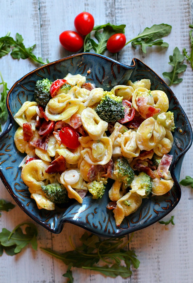 Tortellini salad. Best Pasta Salad ever.