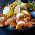 Grilled Glazed Dijon Honey Shrimp