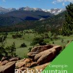 A vista shot of Moraine Park Colorado in Rocky Mountain National Park