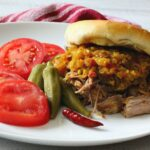 Colorado Chow Chow Pulled Pork Sandwiches. Easy in the crockpot.