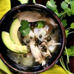 Ajiaco Columbian Chicken Potato stew. An easy soup recipe with capers, cilantro and avocado for a unique layer of flavors.
