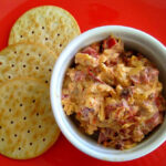 Chipotle peppers kick up this homemade Smoky Pimento Cheese Spread.