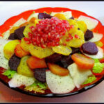 A traditional Mexican Christmas Eve Salad. A Mexican salad recipe for your Mexican Themed Dinner