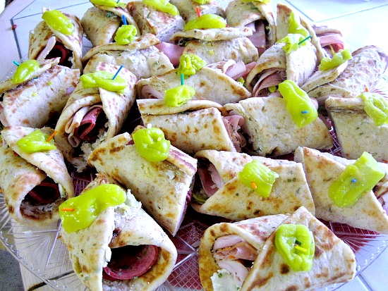 Pita sandwiches to feed a crowd