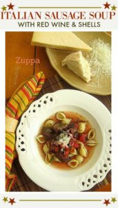 Italian sausage soup recipe with red wine and pasta