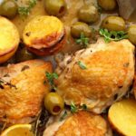 Cast Iron Chicken Thighs with Lemons