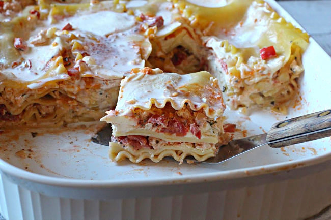 Three cheese chicken lasagna recipe