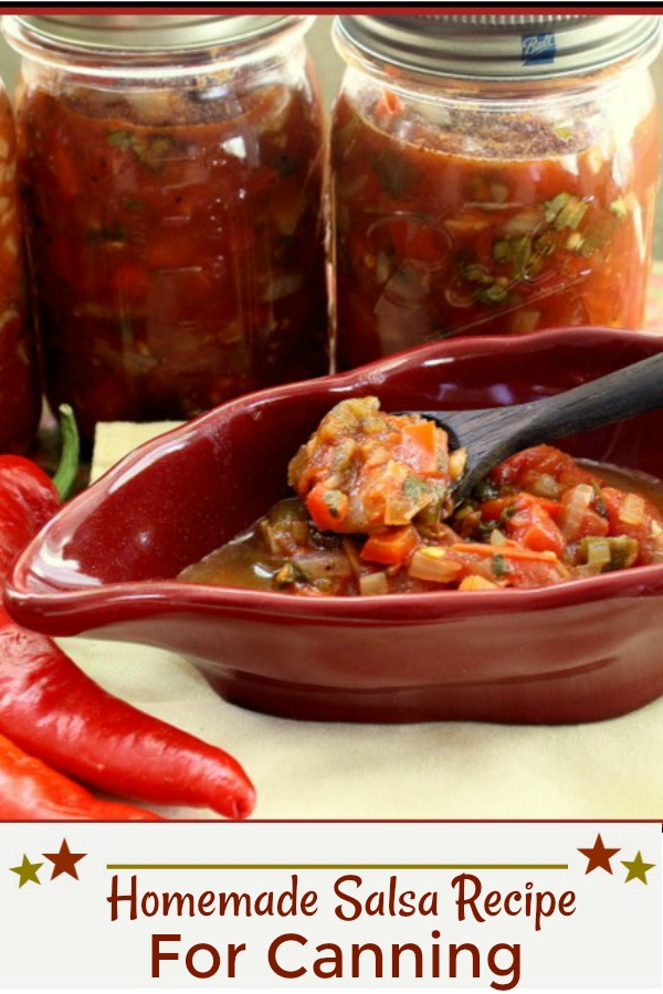 Homemade Salsa Recipe for canning