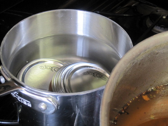 Sterilize lids for canning