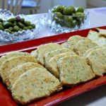 Parmesan cookies for wine party