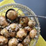 Citrus Marinated Mushrooms Appetizer