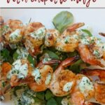 Grilled shrimp with chipotle aioli