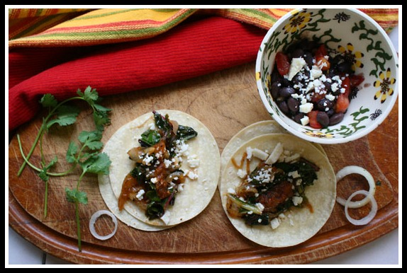 Swiss Chard Tacos, Texas Brew Salsas, and a Giveaway
