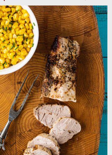 Coriander crusted pork tenderloin