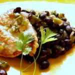 Chicken Cutlets with Black Beans