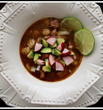 Colorado Posole Soup. A hearty Mexican soup recipe