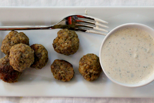 Spicy Lamb meatball recipe. Easy dinner idea or wine party appetizer recipe.