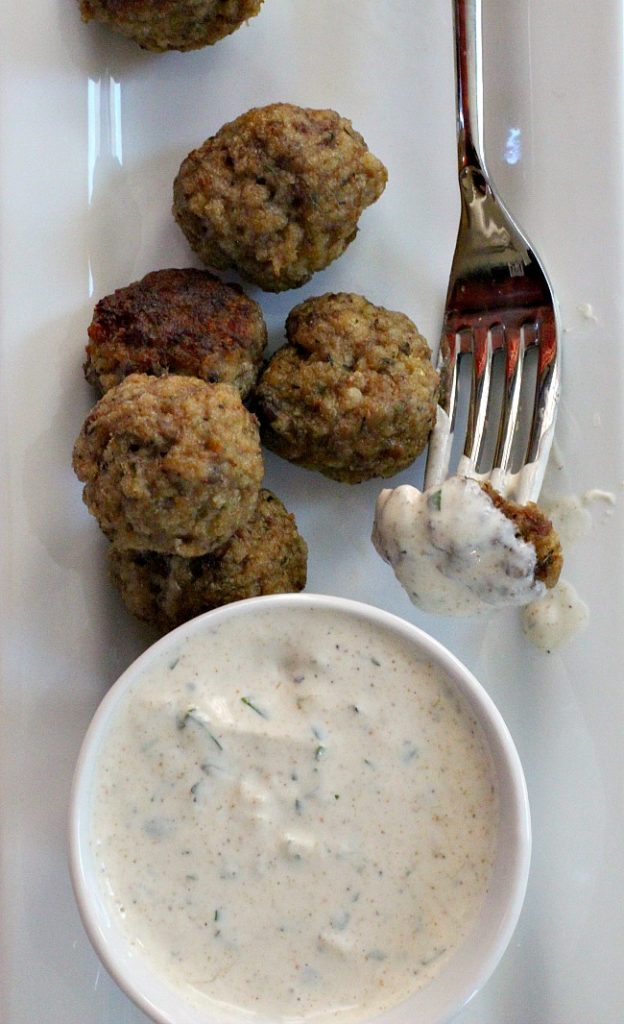 Spicy lamb meatballs. Easy dinner idea or wine tasting party appetizer recipe.