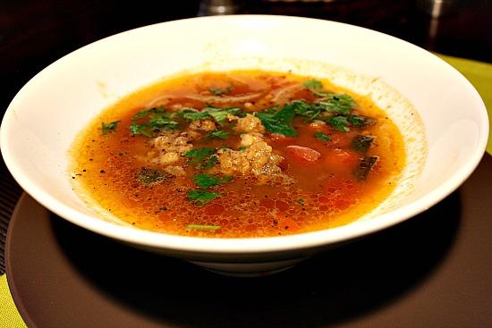 Mexican Shrimp Meatball Soup