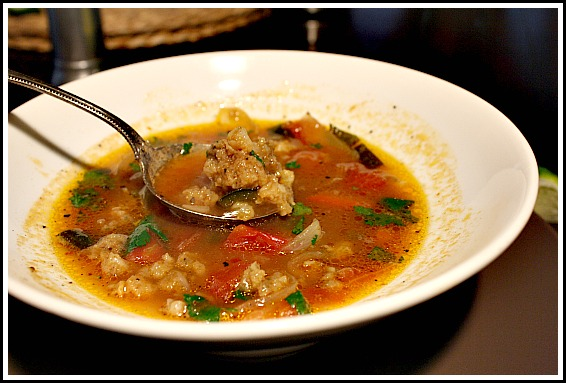 Shrimp Meatball Soup