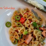 Smoked Salmon pasta salad, with dill cream sauce