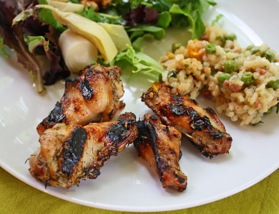 Limoncello grilled chicken wings