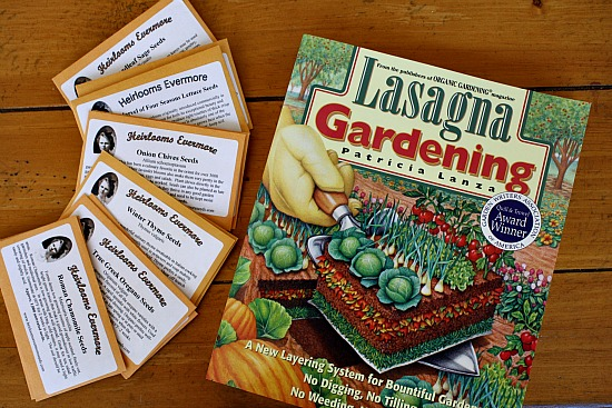 Lasagne Gardening and Heirloom Seeds