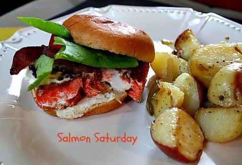 BLT Salmon Sliders
