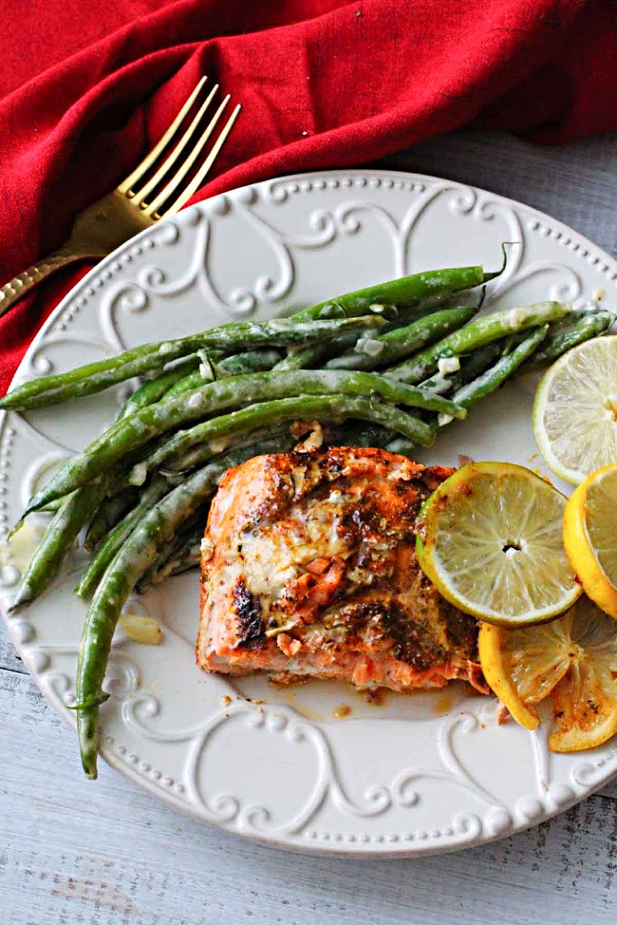Lemon Lime Salmon recipe with lemon butter. An easy mid-week meal.