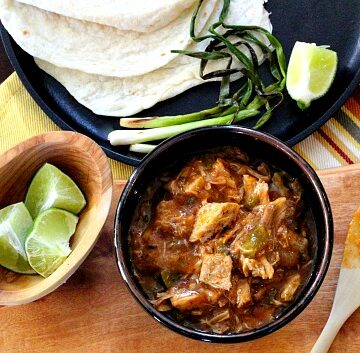 Green Chili with Pork. Colorado style with plenty of Hatch Green Chile and unique spices.