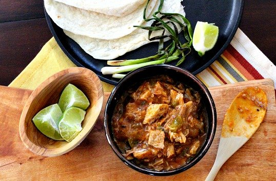 Hatch Green Chili Colorado Style. With plenty of pork and unique spices, this is a must for your recipe collection.