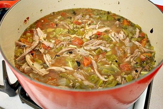 Hatch Green Chili Recipe, with pork.