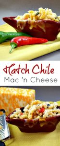 Hatch Chile Mac and Cheese, a Mexican Pasta Side Dish