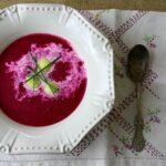 Beet Soup with Horseradish Dumplings