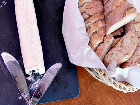 Olive Butter and bread basket