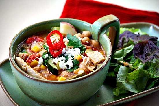 Sopa Ranchera Soup. Ranch Style Mexican Chicken Soup