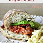 Blackened Salmon Sandwich on rustic bread