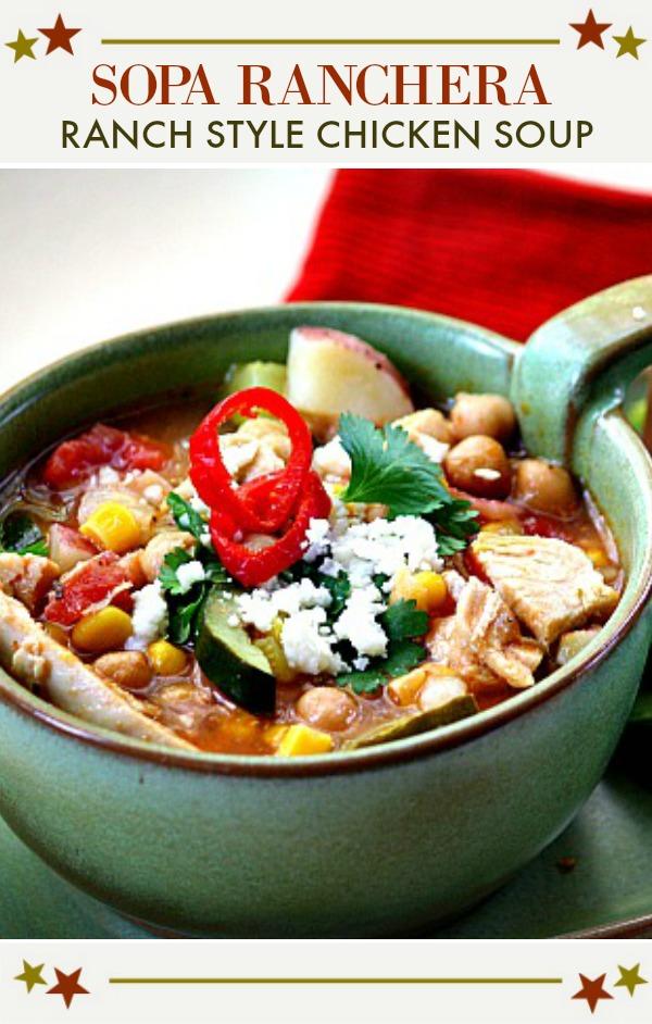 Sopa Ranchera, Ranch style chicken soup