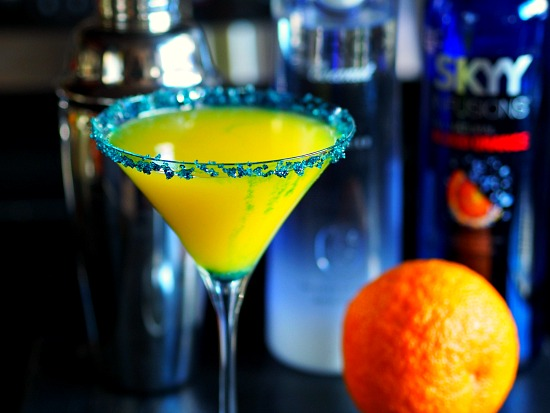 Super bowl broncos cocktails Orange Martini