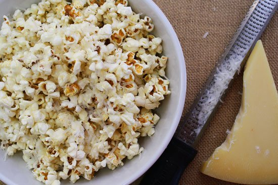 Brown Butter Parmesan Popcorn