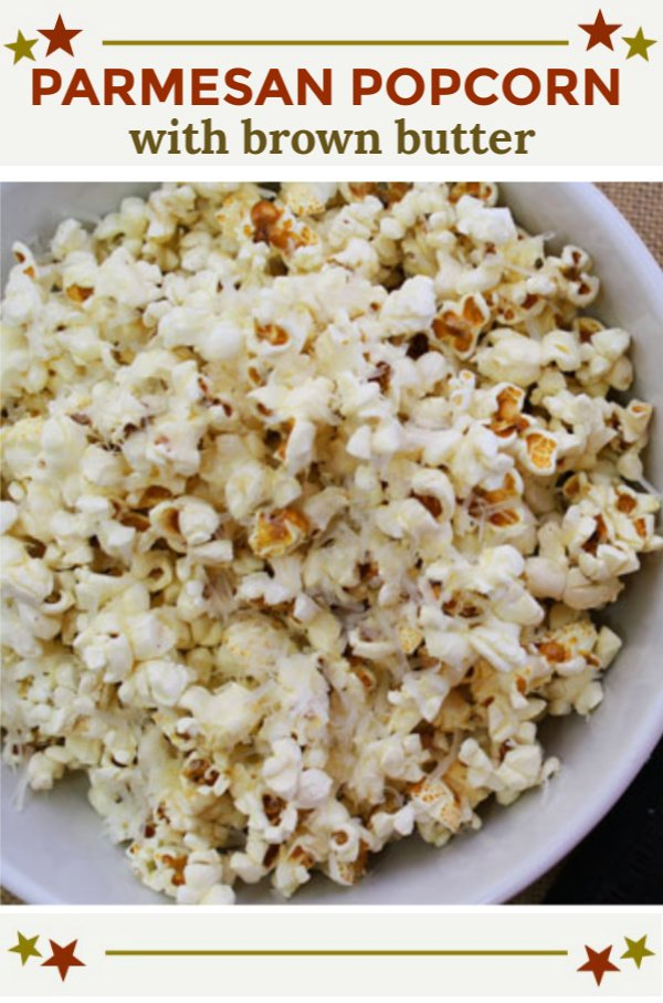 Parmesan Popcorn with Brown Butter