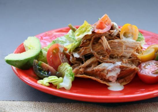 Rio Cafe Sweet Pork Tostada